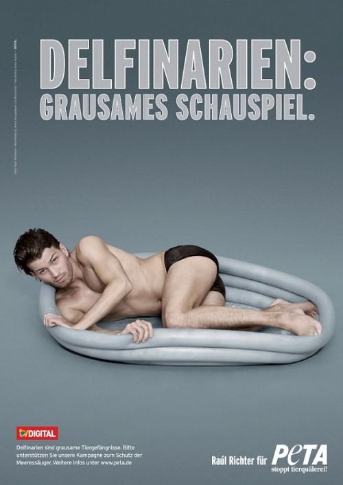 Raúl Richter zeigt sich fast nackt für eine Peta Kampagne