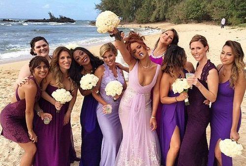 Rihanna hatte als Brautjungfer so richtig Spaß