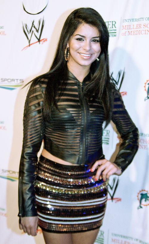 Rima Fakih war bei der Eröffnungsparty des WrestleMania-Wochenendes dabei