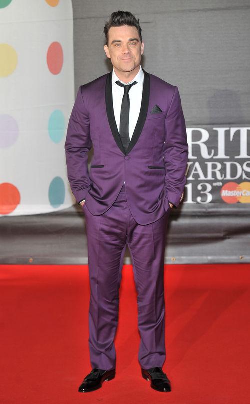 Robbie Williams bekannte Farbe bei den Brit Awards
