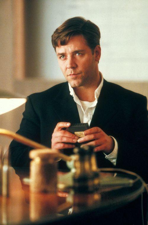 "Russell Crowe spielte in ""A Beautiful Mind"" den Mathematiker John Nash"