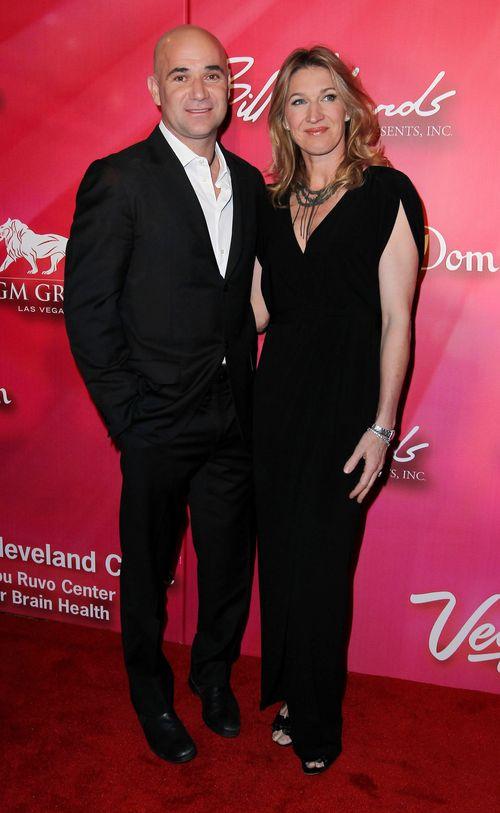 Steffi Graf und Andre Agassi sind total verliebt