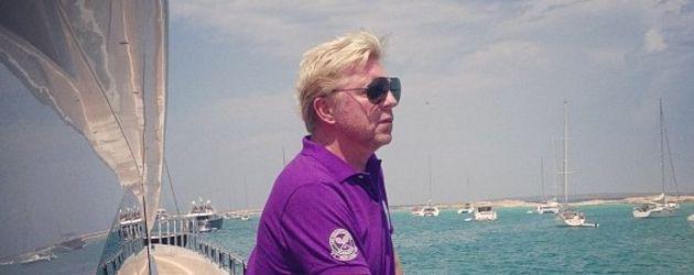 Boris Becker am Schiff
