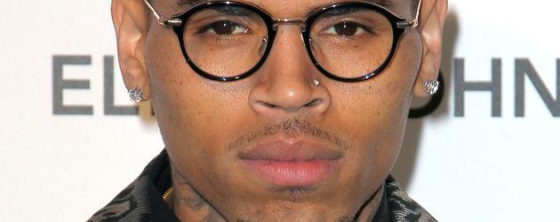 Chris Brown im Leojackett