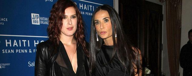 Demi Moore und ihre Tochter Rumer Willis ganz in Schwarz