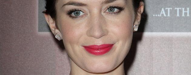 Emily Blunt mit pinken Lippen