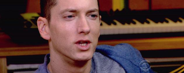 Eminem blau-grauer Kapuzenpulli