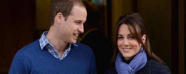 Herzogin Kate und Prinz William kommen aus dem Krankenhaus