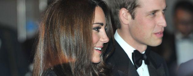 Herzogin Kate und Prinz William von der Seite