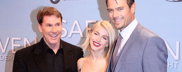 Nicholas Sparks, Julianne Hough und Josh Duhamel bei der Safe Haven Premiere