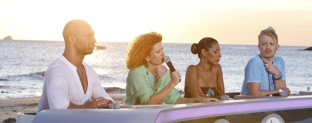 Popstars: Jury am Strand