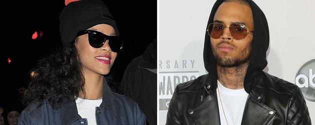 Rihanna mit Mütze und Chris Brown mit Sonnenbrille