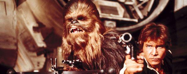Star Wars-Szene mit Chewbacca und Han Solo