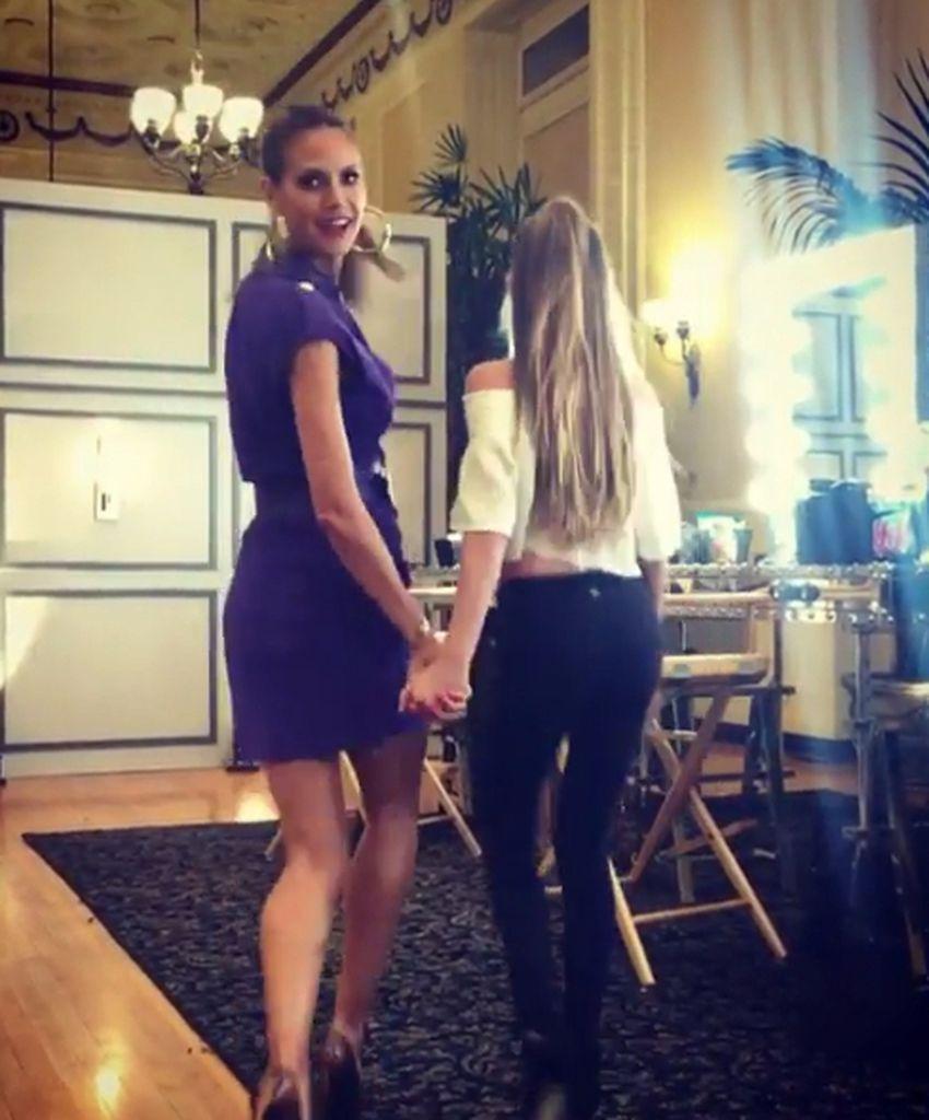 Stolze Mama Heidi Klums Leni Gewinnt Tanz Wettbewerb Promiflashde