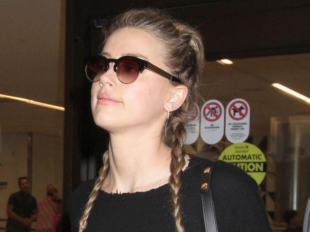 Amber Heard am Flughafen in Los Angeles