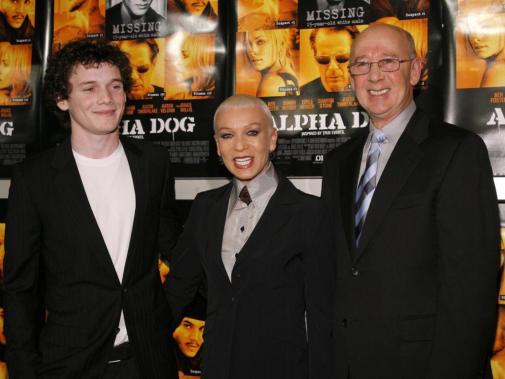 Anton Yelchin mit seiner Mutter Irina and seinem Vater Victor, Januar 2007