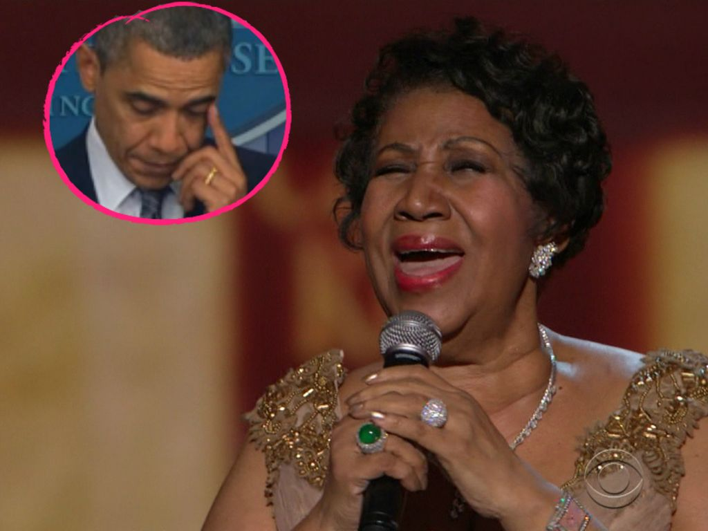 Barack Obama und Aretha Franklin