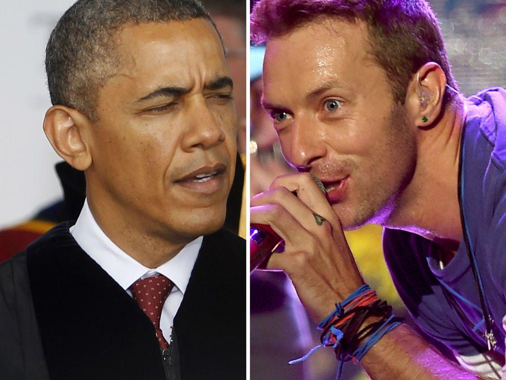 Barack Obama und Chris Martin