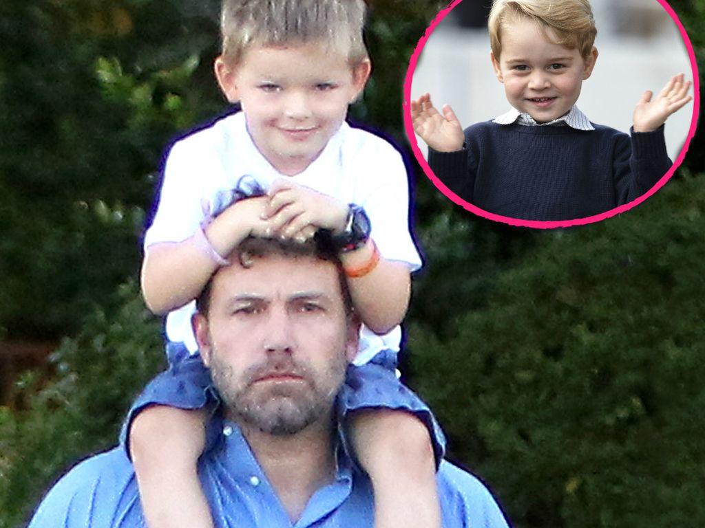 Ben Affleck mit Sohn Samuel und Prinz George