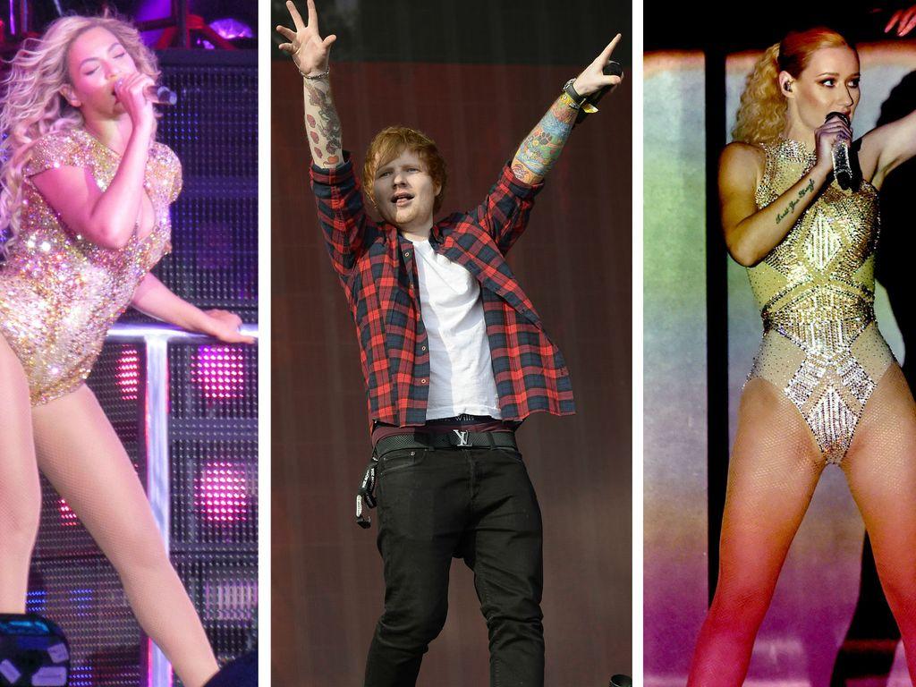 Beyonce, Ed Sheeran und Iggy Azalea