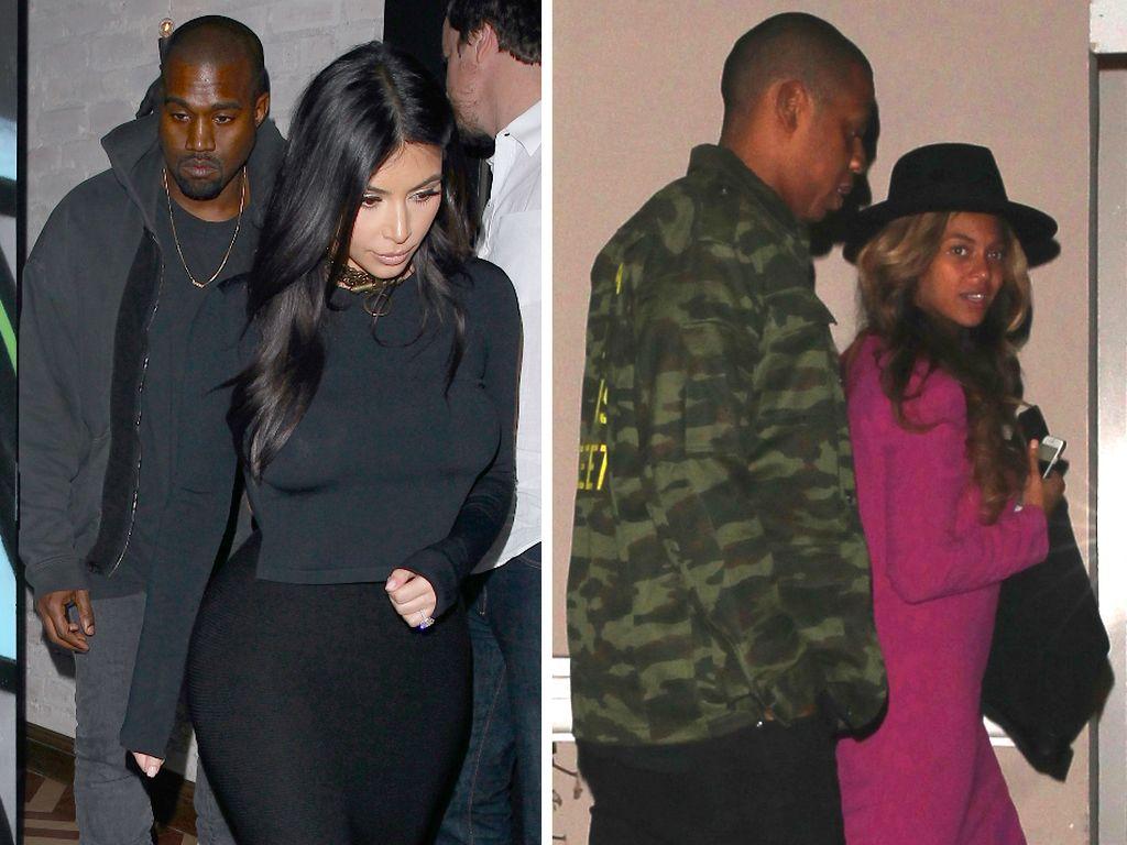 Kim Kardashian, Beyonce, Kanye West und Jay-Z