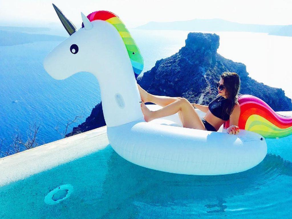Bibi Heinicke im Urlaub in Griechenland