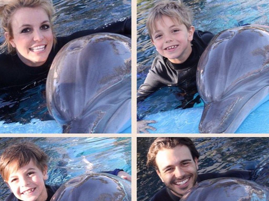 Britney Spears, Sean Preston Federline, Jayden James Federline und Charlie Ebersol