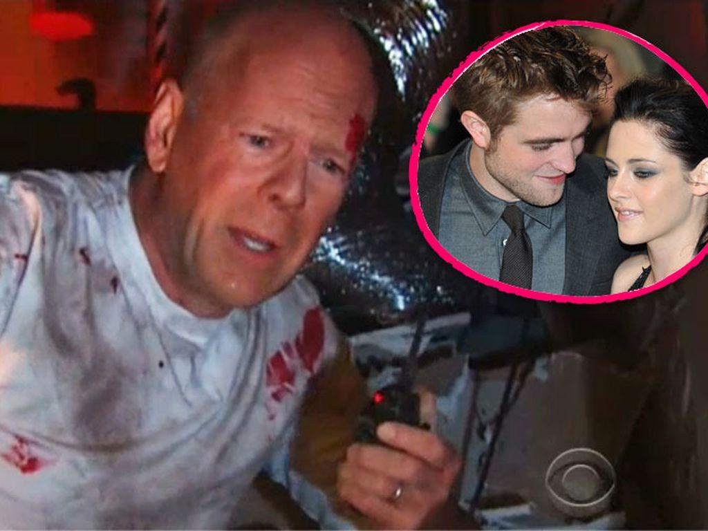 Kristen Stewart, Robert Pattinson und Bruce Willis
