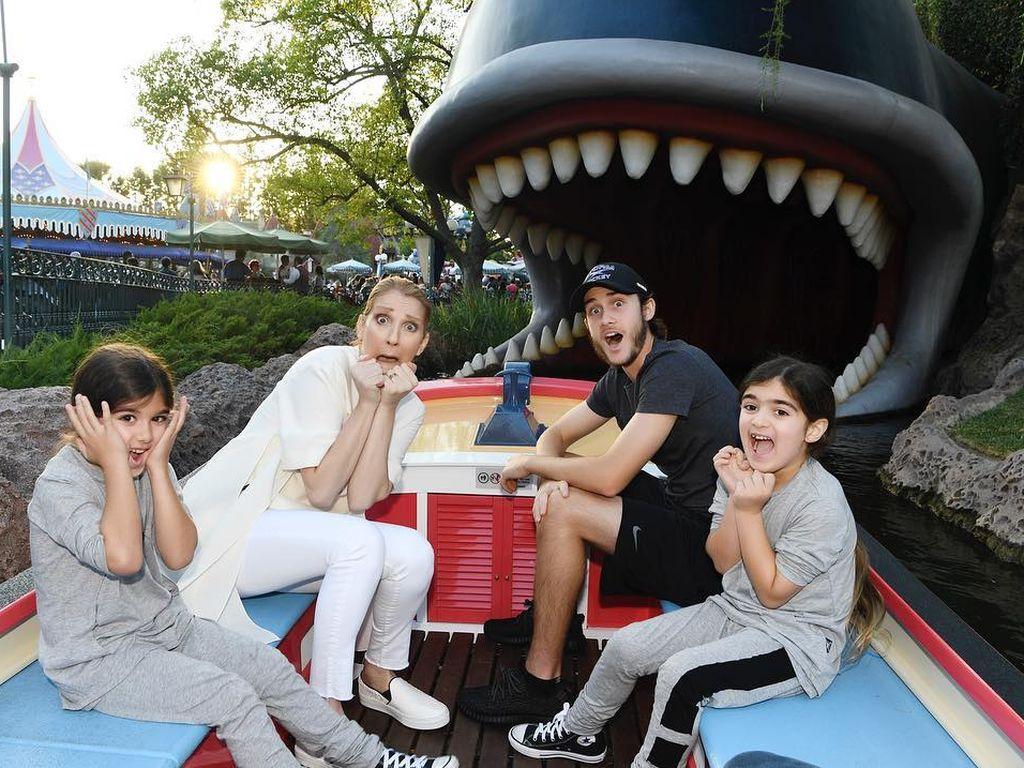 Celine Dion und ihre Kids am 6. Geburtstag der Zwillinge
