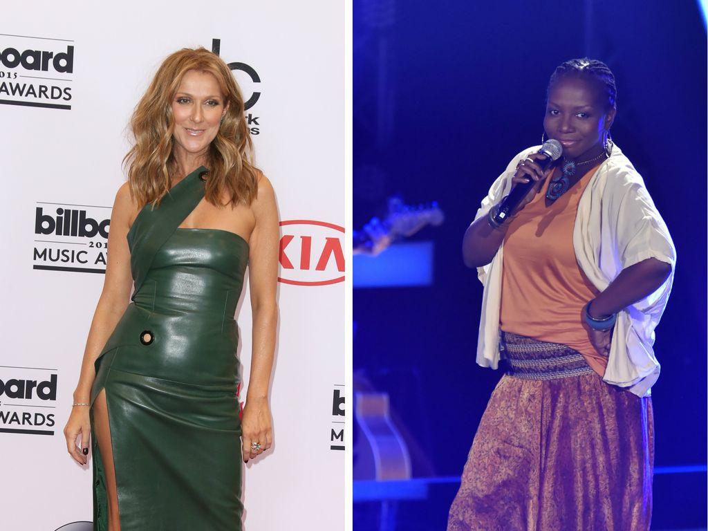 Celine Dion und Rachelle Jeanty
