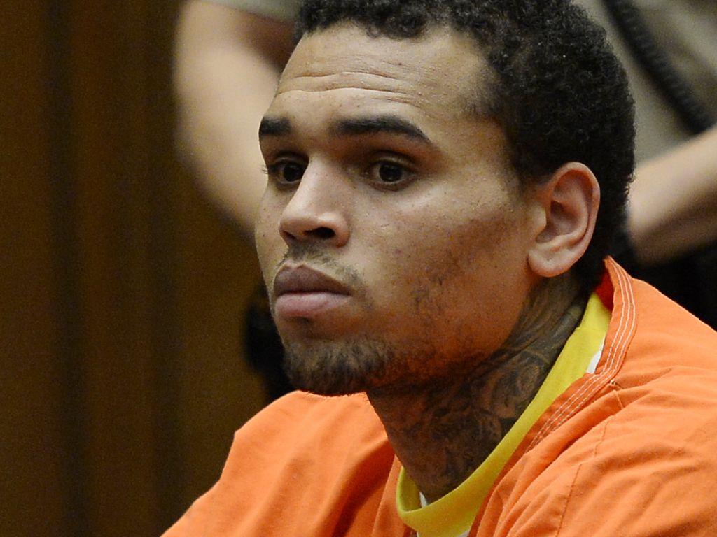 Chris Brown bei einer Anhörung