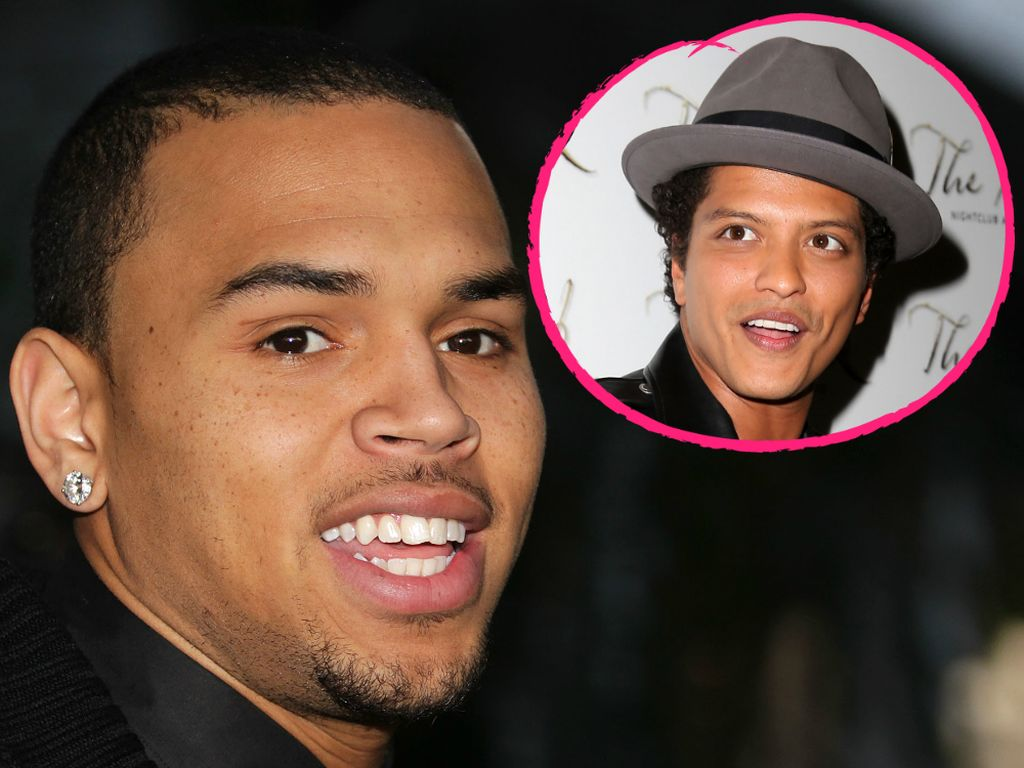 Chris Brown und Bruno Mars
