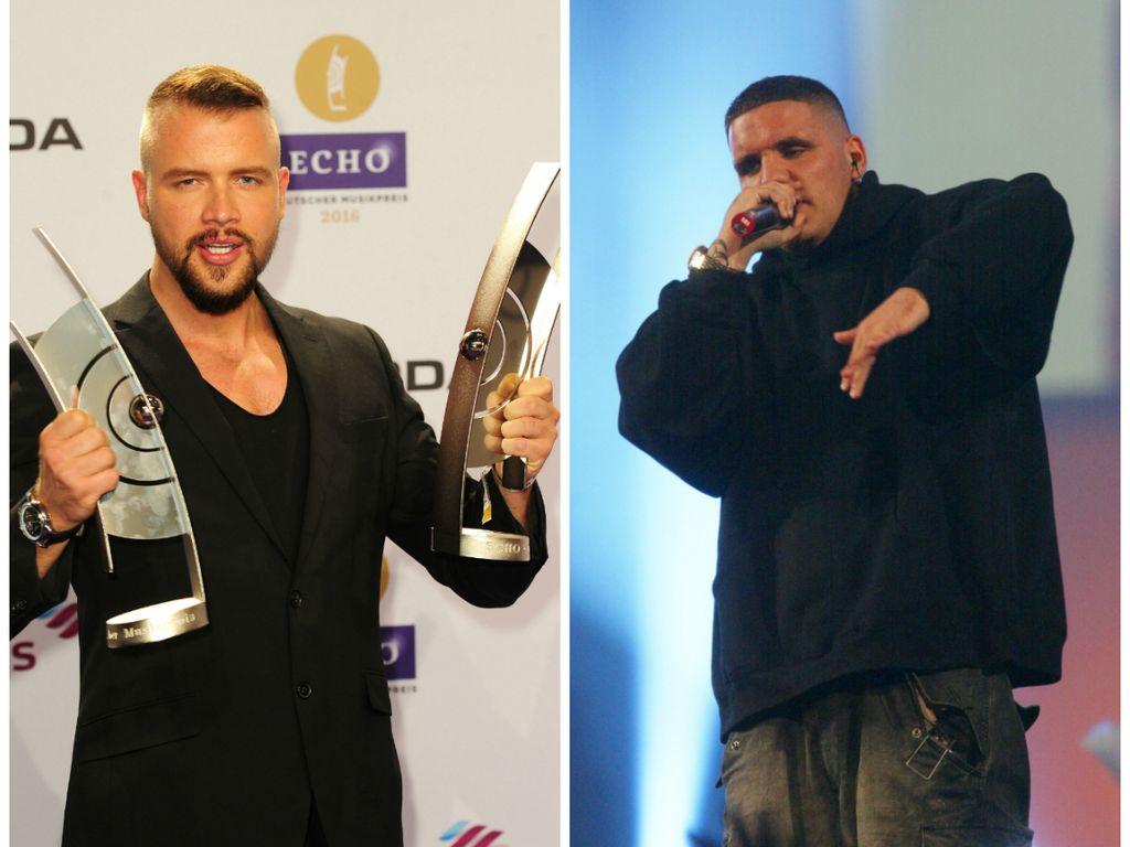 Die Rap-Stars Kollegah (l.) und Fler