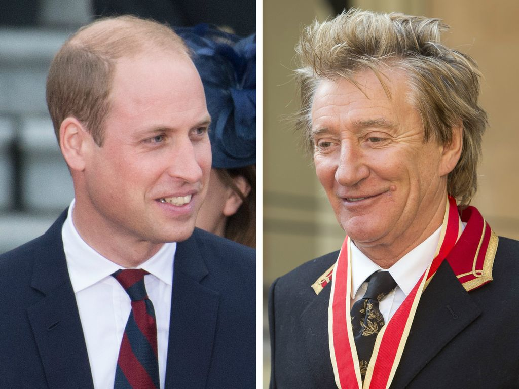 Prinz William und Rod Stewart