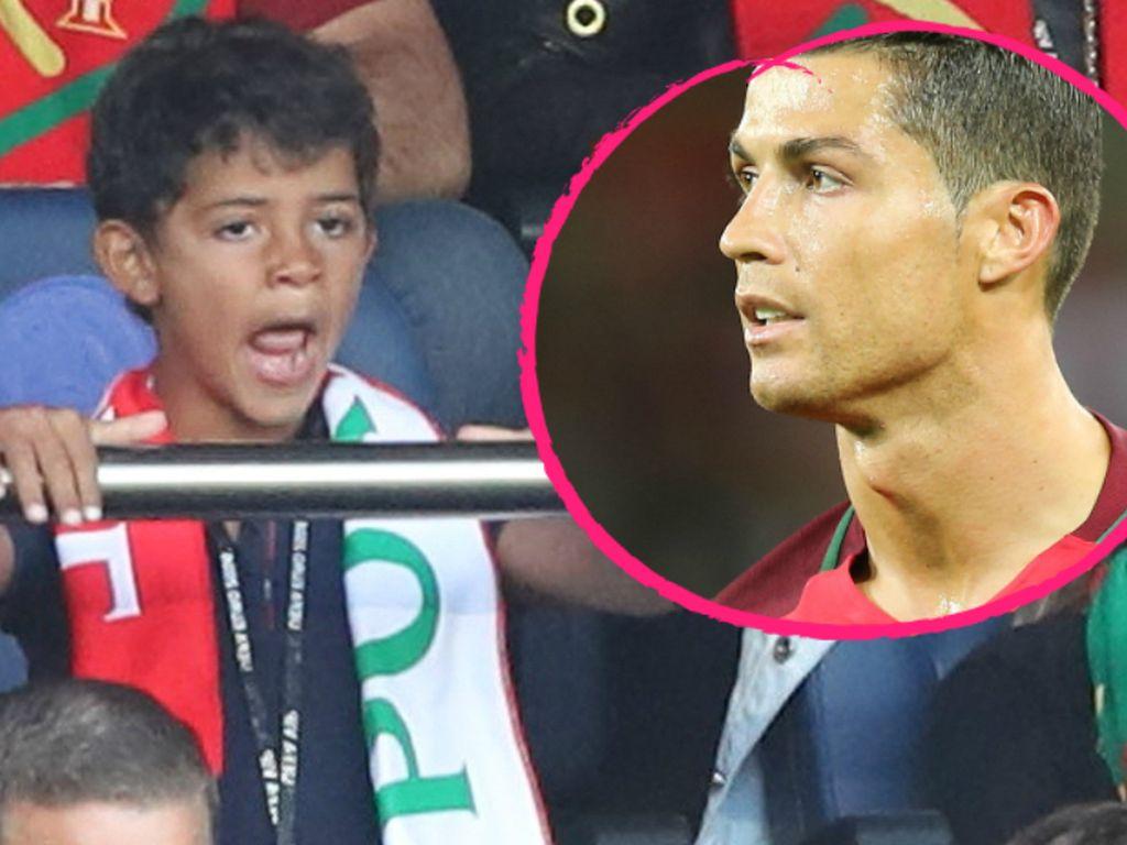 Cristiano Ronaldo Jr. und Cristiano Ronaldo bei der EM 2016