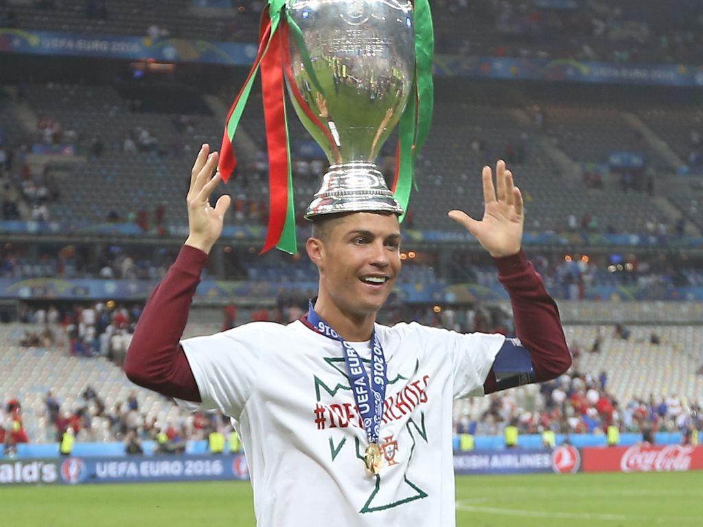 Cristiano Ronaldo bei der Siegesfeier der EM