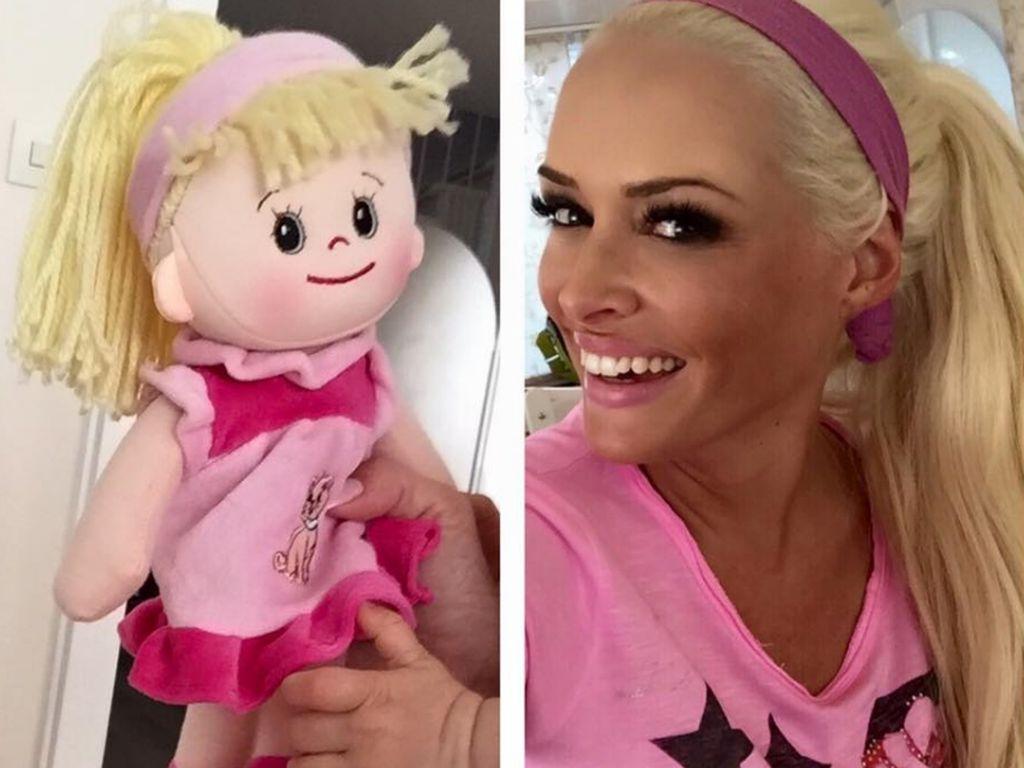 Daniela Katzenberger mit Sophias Puppe