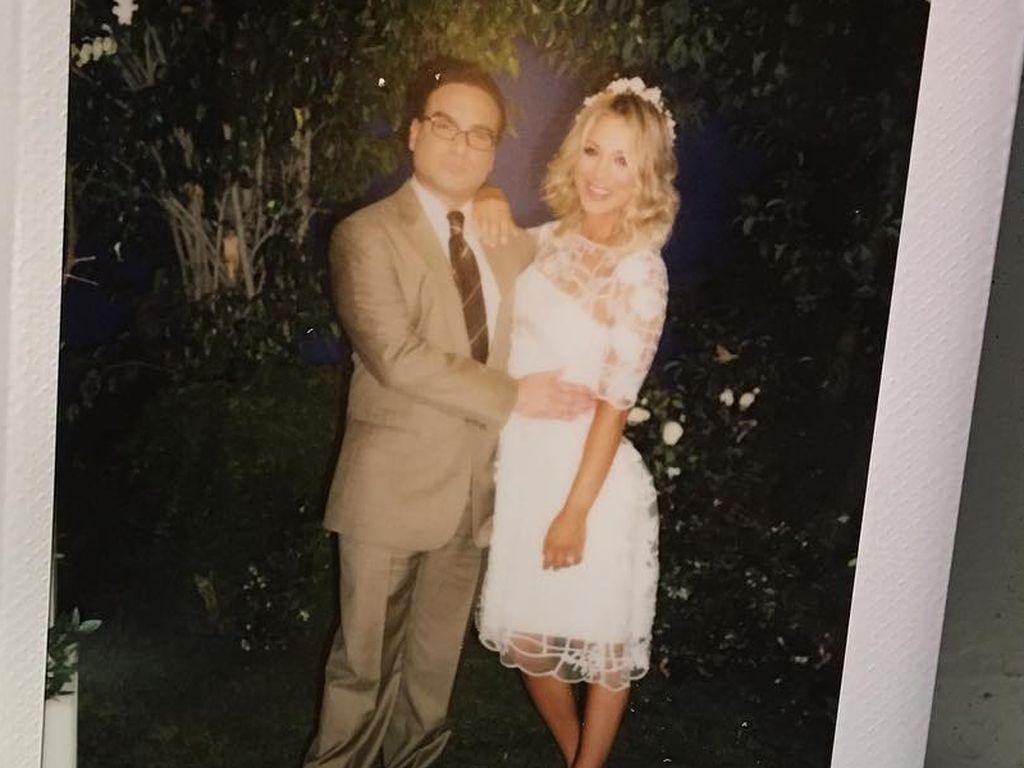 "Das ""The Big Bang Theory""-Brautpaar Leonard und Penny (gespielt von Johnny Galecki & Kaley Cuoco)"