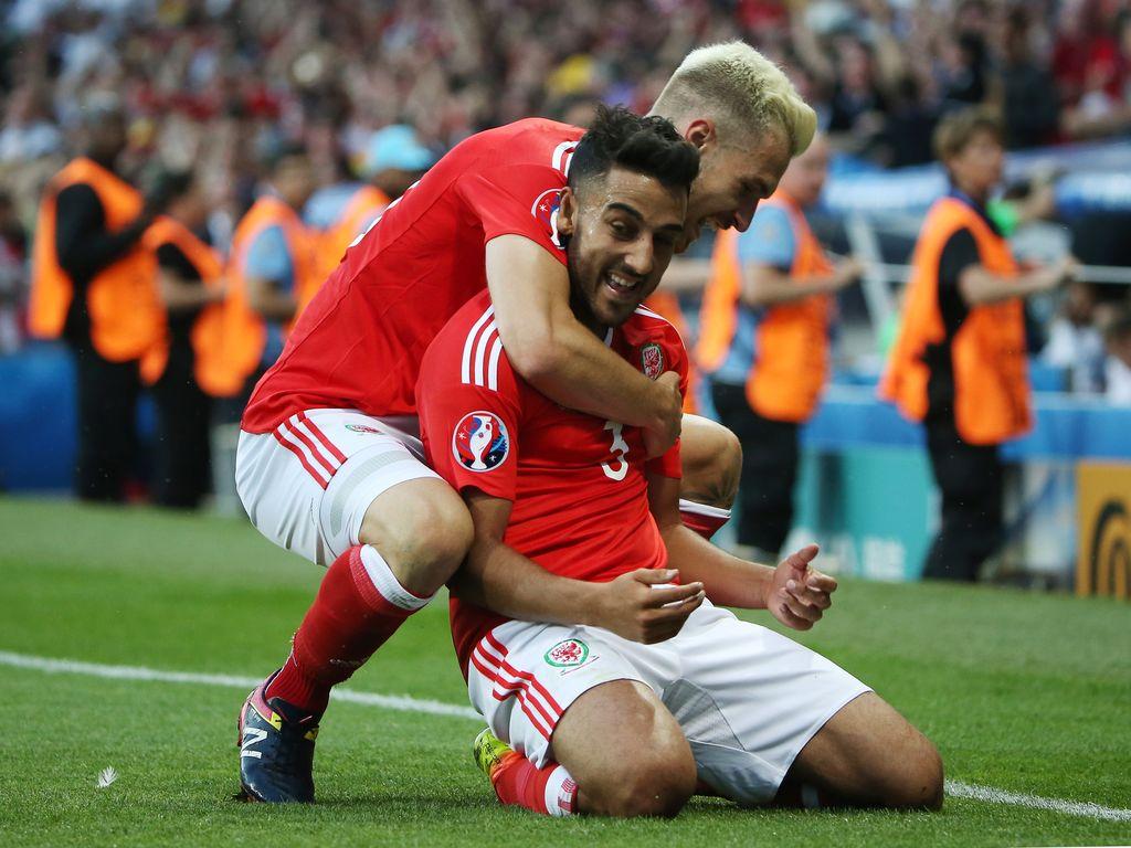 Der walisische Fußballer Neil Taylor bei der Fussball-EM 2016: Russland vs Wales