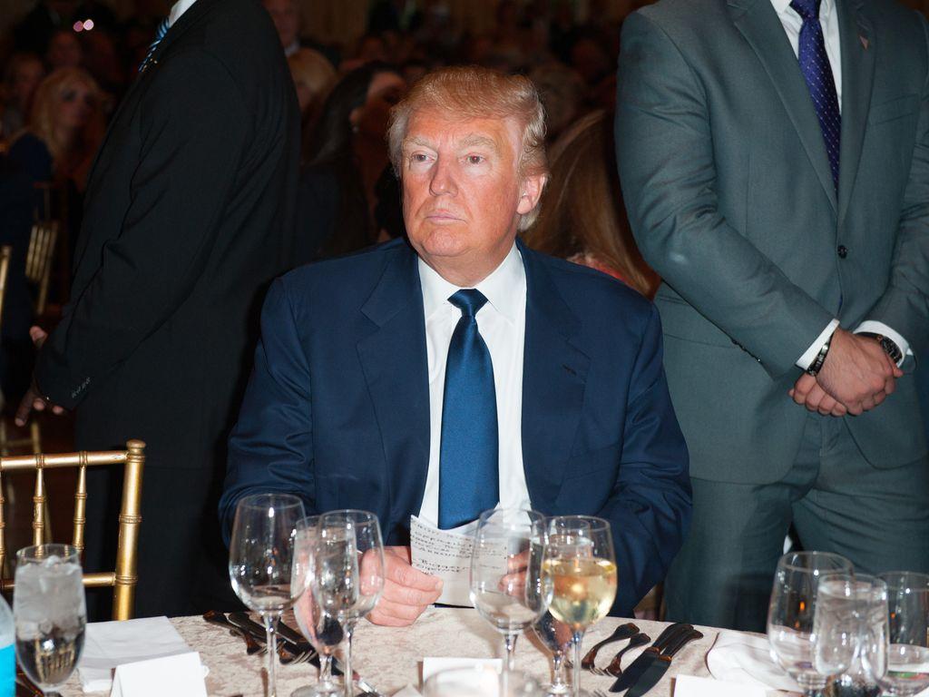 Donald Trump vor seiner Rede in Palm Beach, Florida, im März 2016