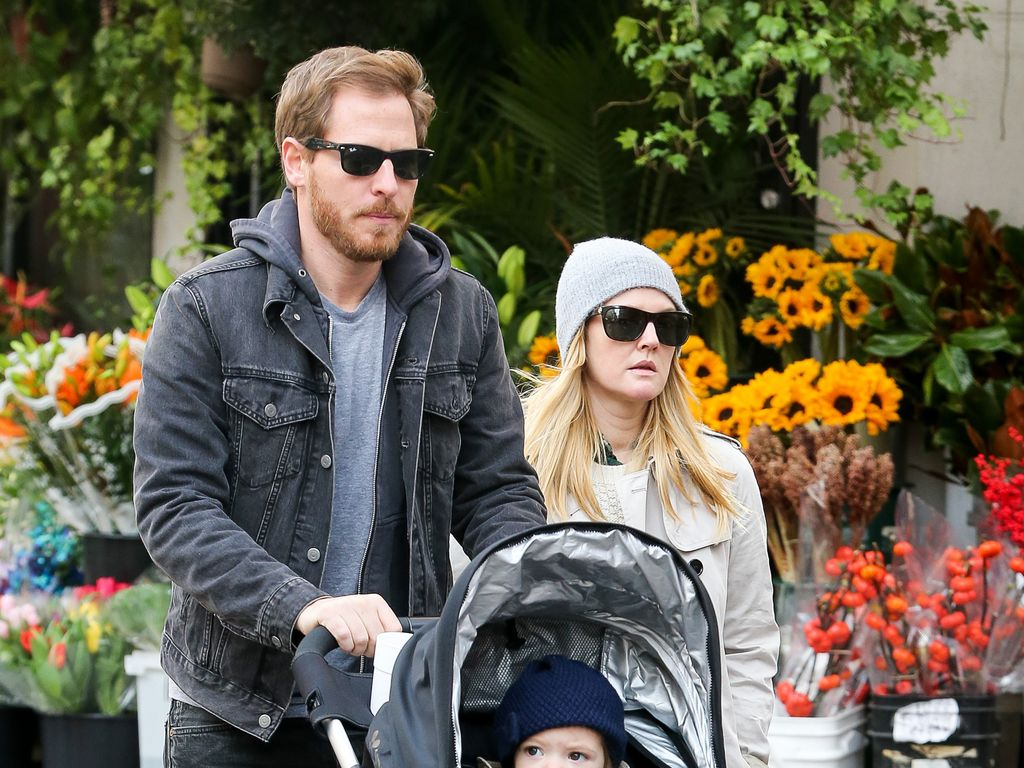Drew Barrymore, Will Kopelman und Olive Barrymore Kopelman