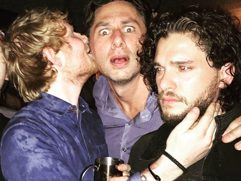 Ed Sheeran, Kit Harington und Zach Braff