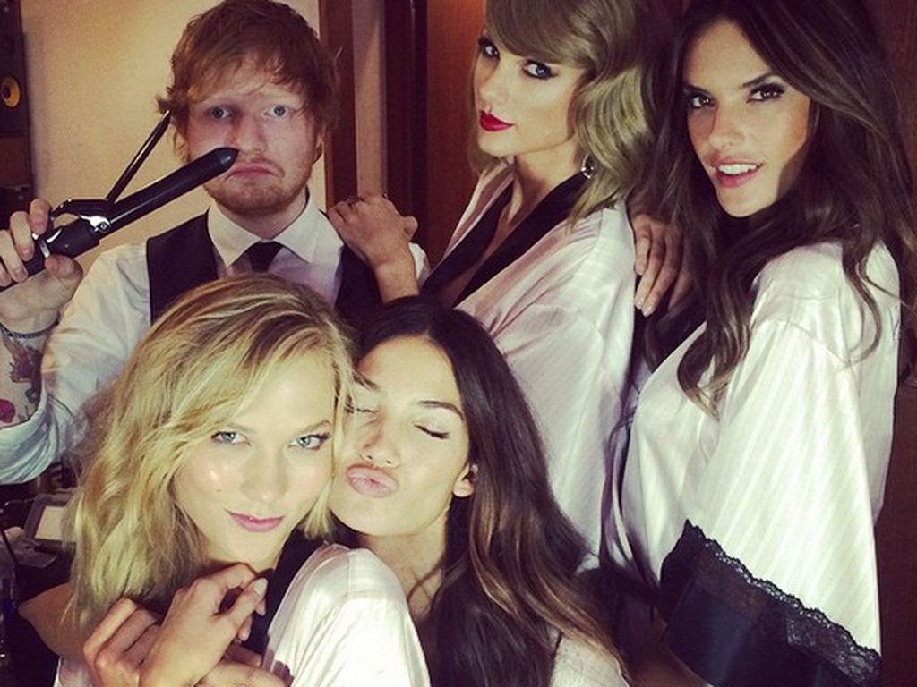 Taylor Swift, Alessandra Ambrosio, Ed Sheeran, Karlie Kloss und Lily Aldridge