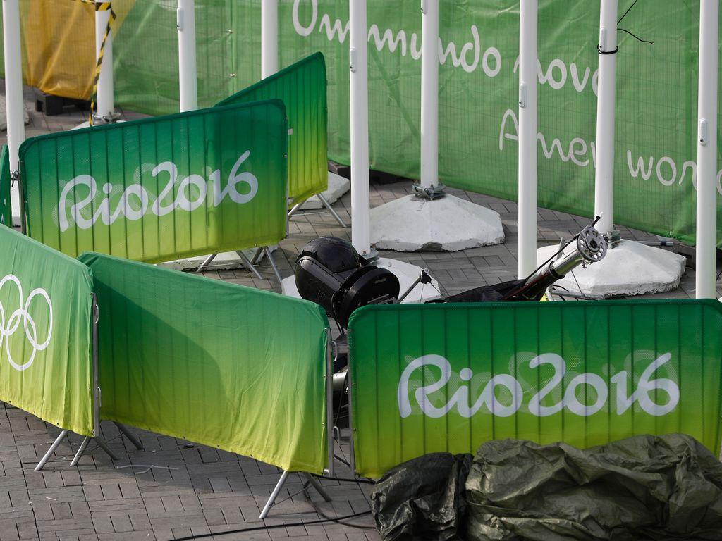 Die abgestürzte Kamera im Olympia-Park
