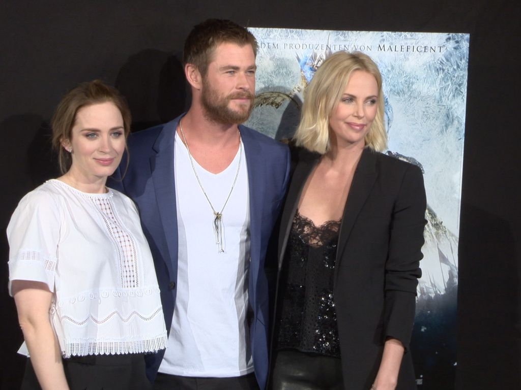 Emily Blunt, Charlize Theron und Chris Hemsworth