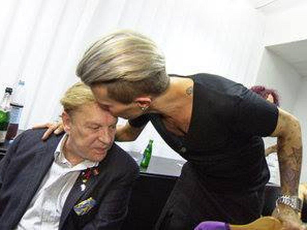 Florian Wess und Schauspieler Helmut Berger