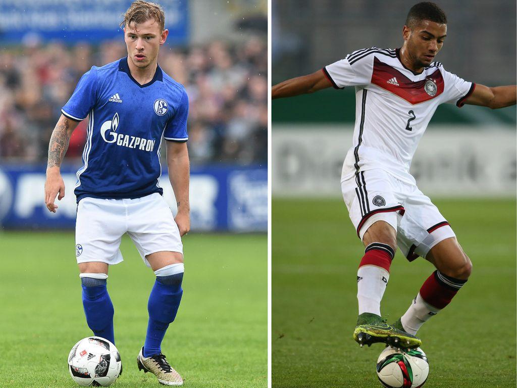 Fußballer Lars Bender, Max Meyer und Jeremy Toljan
