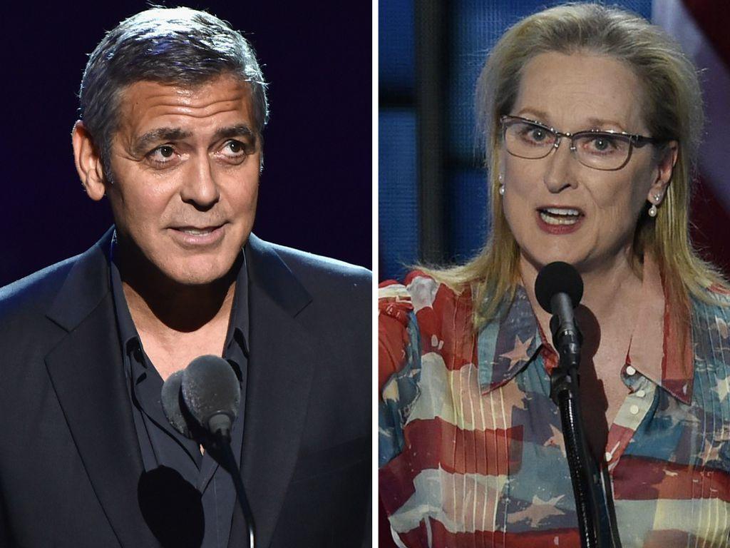 George Clooney und Meryl Streep