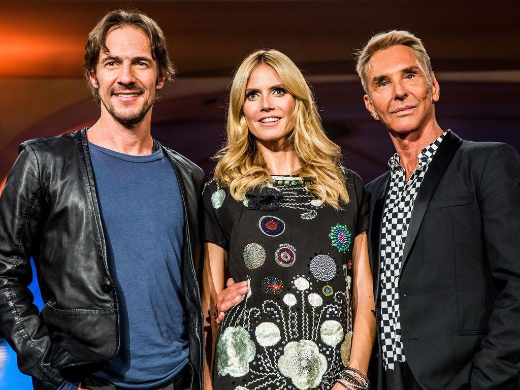 Heidi Klum, Thomas Hayo und Wolfgang Joop