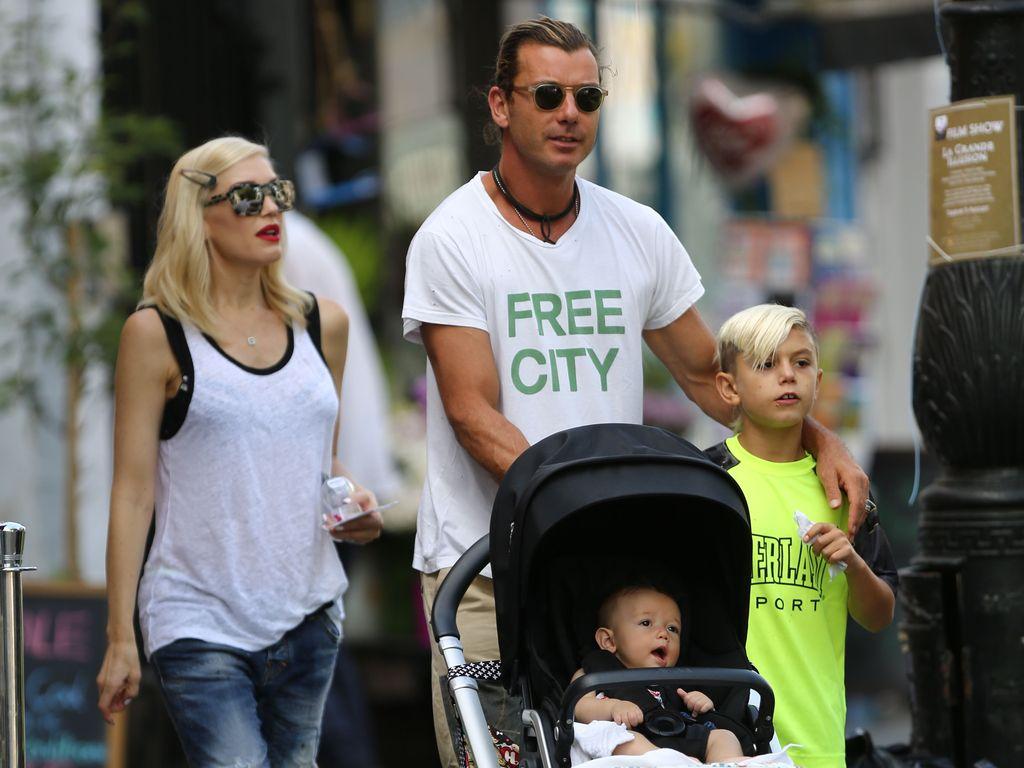 Gwen Stefani und Gavin Rossdale mit zwei ihrer drei Söhne